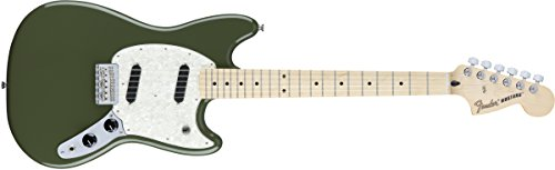 Fender Mustang Electric Guitar - Maple Fingerboard - Olive
