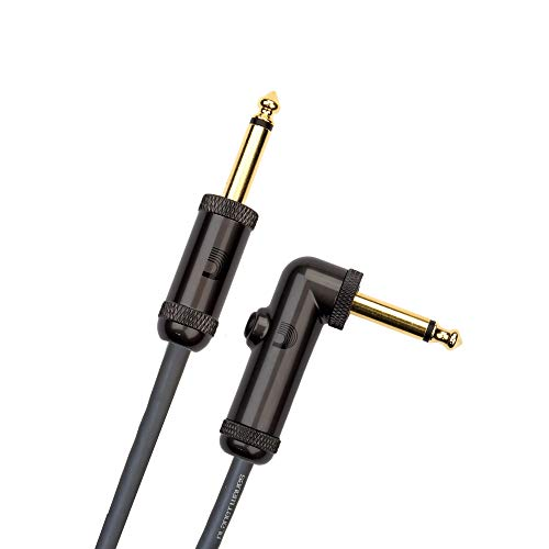 D'Addario Circuit Breaker Instrument Cable, Right-Angle, 10 feet