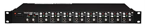 Tascam MH-8 Ultimate Headphone Amplifier with 8 Stereo 1/4' Headphone Outputs