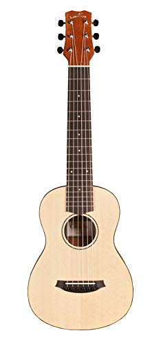 Cordoba Mini M Miniature Acoustic Nylon String Travel Guitar with Gig Bag and Clip-On Tuner