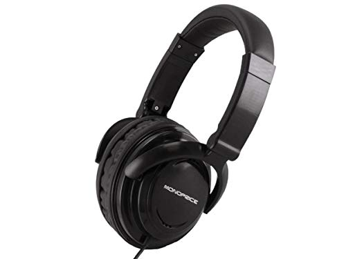 Monoprice Hi-Fi Light Weight Noise Isolationg Over-The-Ear Headphones Ideal for Portable Applications