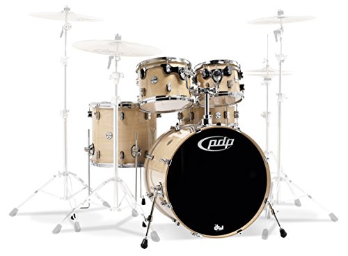 PDP By DW 5-Piece Concept Maple Shell Pack with Chrome Hardware Natural
