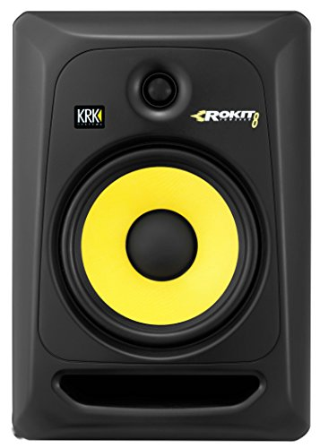 KRK RP8G3 ROKIT 8 G3 2-Way Powered Studio Monitor (Discontinued), Black, 8-Inch RP8G3NA
