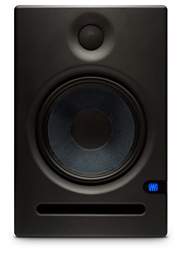 PreSonus Eris E8 8-Inch 2-Way Active Studio Monitor Pair Bundle with TRS Cables and Austin Bazaar Polishing Cloth