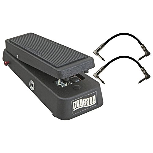 Dunlop 95Q Cry Baby Q Wah Guitar Effects Pedal with Variable-Q Control with 2 R-Angle Patch Cable