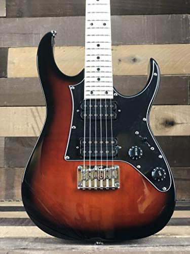 Ibanez GRGM21MWNS Mikro 3/4 Size Walnut Sunburst Mini Electric Guitar w/Gig Bag