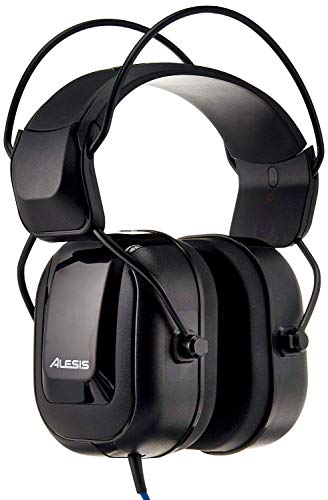 Alesis DRP100 | Extreme Audio-Isolation Electronic Drum Reference-Headphones with 1/4' Adapter & Protective Bag