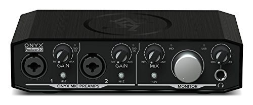 Mackie Audio Interface, 2 Mic Pres w/MIDI (Onyx Producer 2-2)