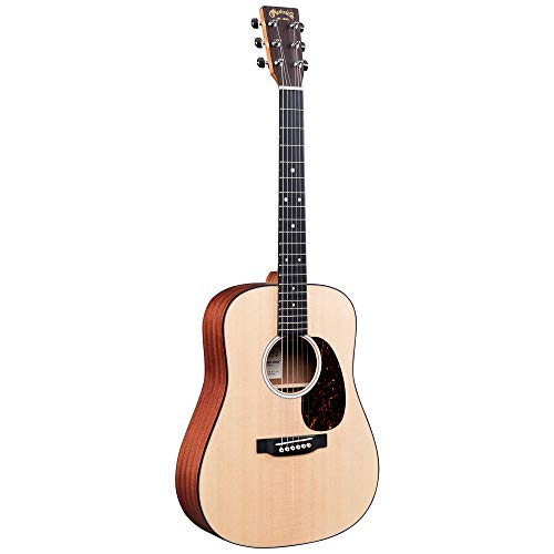 Martin Guitar DJr-10 Dreadnought Junior Guitar with Gig Bag, Sitka Spruce and Sapele Construction, Satin Finish, D Junior-14 Fret (000 Depth)