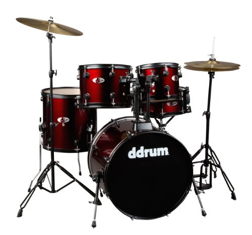 ddrum D120B BR D Series 5 Piece Drum Set Complete, Red