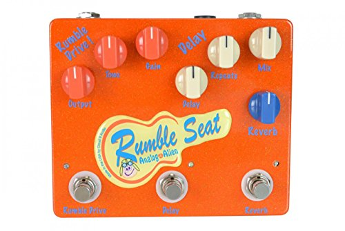 Analog Alien Rumble Seat Drive Delay Reverb Guitar Effects Pedal