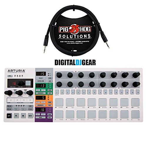 Arturia BeatStep Pro Drum Sequencer with 8 1/8'-1/8' TRS patch cables