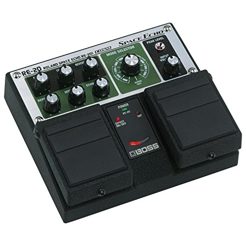 BOSS RE-20 Roland Space Echo Twin Pedal W/4 Free Cables