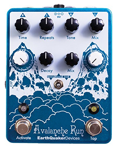 EarthQuaker Devices Avalanche Run Stereo Reverb & Delay with Tap Tempo Guitar Effects Pedal