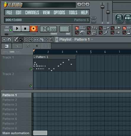 FL Studio simple MIDI track recording.png