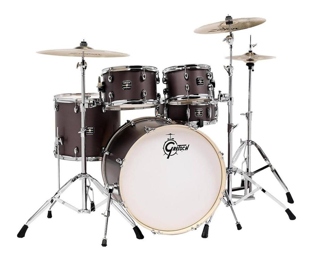 Gretsch Energy 5 pc. Kit w/ Full Hardware Package & Zildjian Cymbals