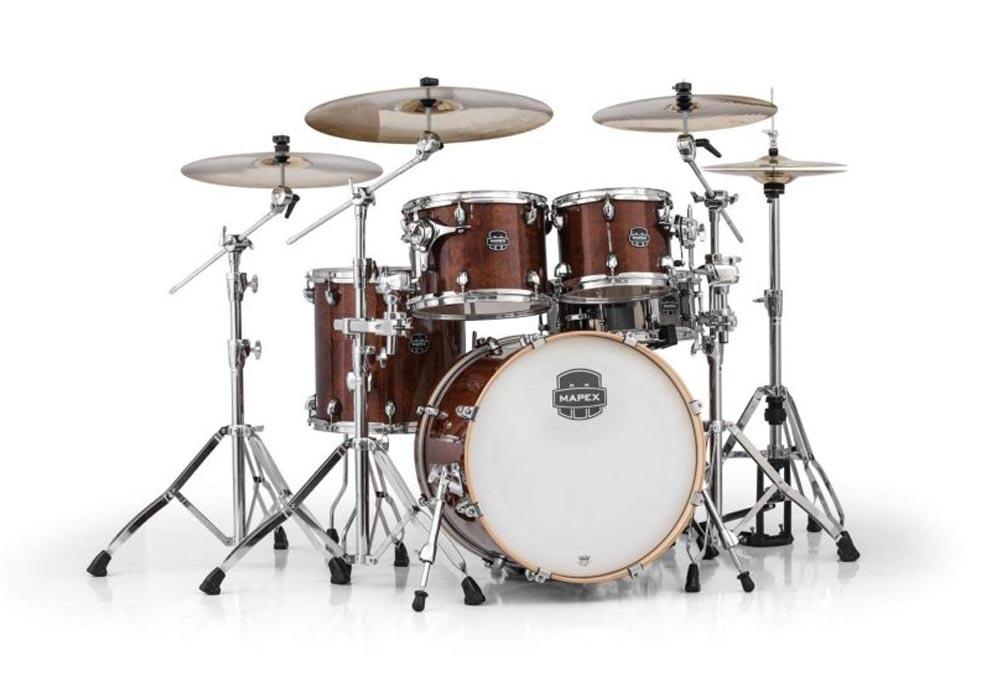Mapex Armory Series 5-Piece Jazz/Rock Shell Pack Transparent Walnut