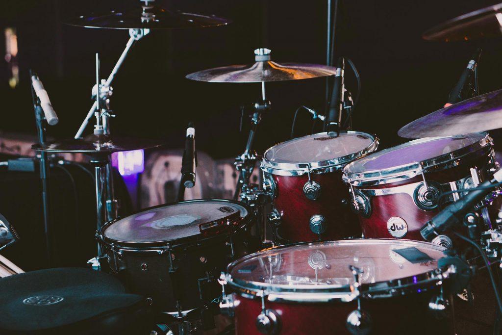 acoustic drum set
